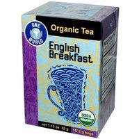 Great Eastern Sun, One World, Organic English Breakfast Tea, 16 Tea Bags, 1.1...
