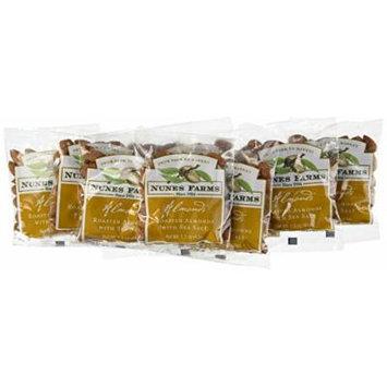 Nunes Farms Almonds with Sea Salt, Roasted, 1.5 Ounce (Pack of 72)
