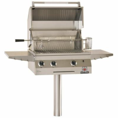 Solaire 27-Inch Deluxe Infrared Natural Gas In-Ground Post Grill with Rotisserie Kit, Stainless Steel
