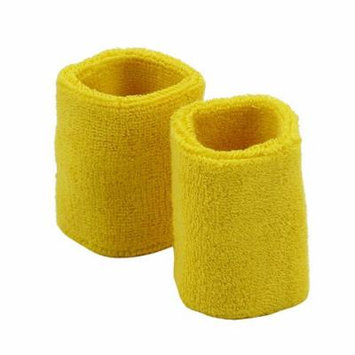 Wrist Band Pair (terry)-Yellow W15S26D
