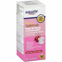 Equate Children's Cherry Pain & Fever Acetaminophen Pain Reliever/Fever Reducer Suspension Liquid, 4 fl oz