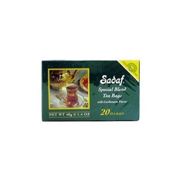 Sadaf Special Blend Cardamom Tea, 20 Count Box