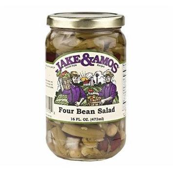 Jake & Amos Pickled Four Bean Salad, 16 Oz. Jar (Pack of 4)