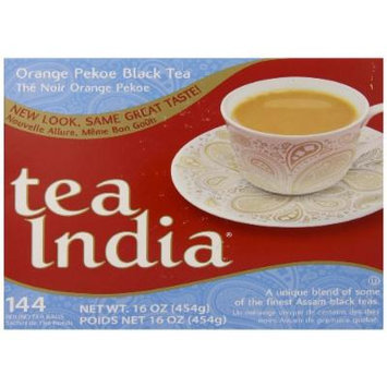 Tea India Orange Pekoe Black Tea, 16 Ounce, 144 count.
