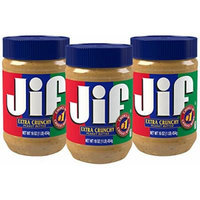 Jif Extra Crunchy Peanut Butter,16 ounce (Pack of 3)