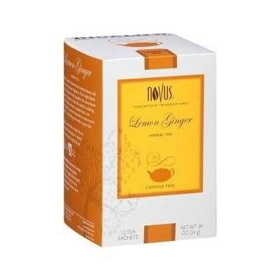 Novus Lemon Ginger Tea Sachets-12 count tea bags