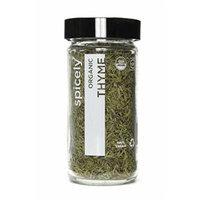 Spicely Organic Thyme Whole - Glass Jar - Gluten Free - Non Gmo - Vegan - Kosher