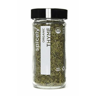 Spicely Organic Thyme Whole - Glass Jar - Gluten Free - Non Gmo - Vegan - Kosher