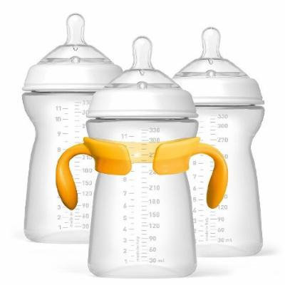 Chicco NaturalFit Age 6 Months+ 11-Ounce Bottles and Fast Flow Nipples (3-Pack)