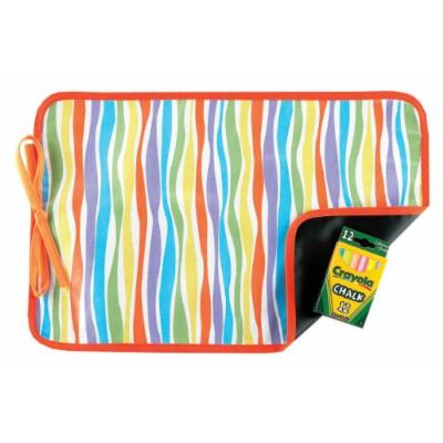 AM PM Kids! Reversible Placemat/Chalkboard, Stripes