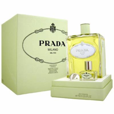 Prada Infusion D'Iris by Prada for Women 25.5 oz Eau de Parfum Flacon + 1.0 oz Empty Bottle for Recharge + Prada Funnel