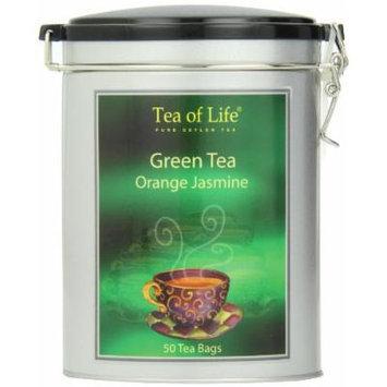 Tea of Life Green Tea, Orange Jasmine, 2.65 Ounce