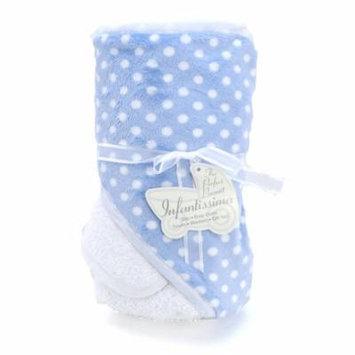 Infantissima Hooded Towel, Minky Bubble Blue