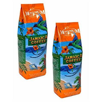 Magnum Jamaican Blue Mountain Blend Coffee, Ground, Two 1 Lb Bags