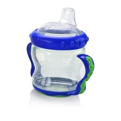 Nuby 2 Handle Cup with Soft Spout, 7 Ounce, Blue