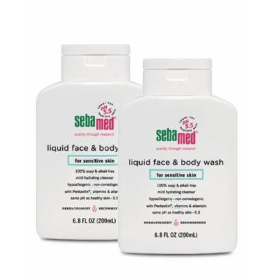 Sebamed Face and Body Wash, 6.8-Fluid Ounces Bottles (Pack of 2)