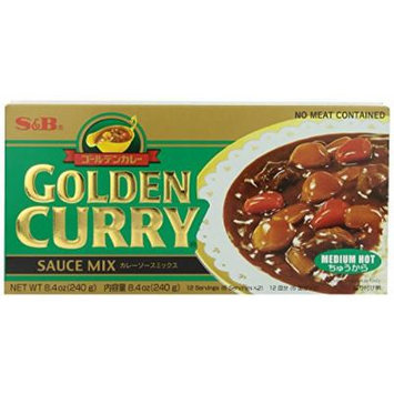 S&B Medium Hot Curry Mix Sauce 8.4 Oz. Pack of 2