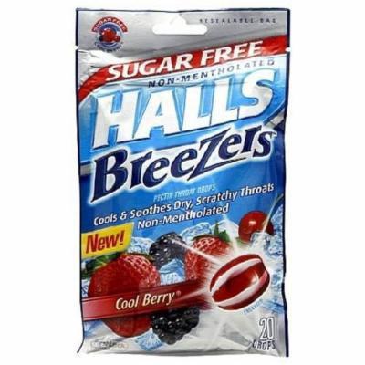 Halls Breezers Lozenges Sugar Free Cool Berry - 7 mg 20 ea