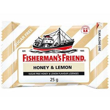 Fisherman's Friend Sugar Free Refreshing Honey & Lemon Flavor Cough Lozenges, 25g pack, (Pack of 12)