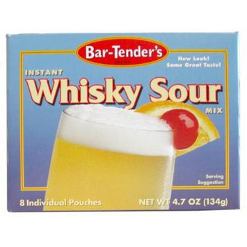 Whiskey Sour Bar-Tenders Instant Cocktail Mix: Case of 12 Boxes (96 Pouches)