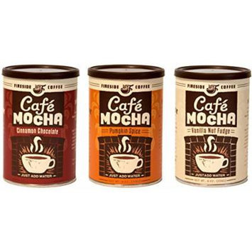 Fireside Coffee Instant Gourmet Coffee Bundle Variety Pack of 3 (Cinnamon Chocolate, Pumpkin Spice, & Vanilla Nut Fudge)