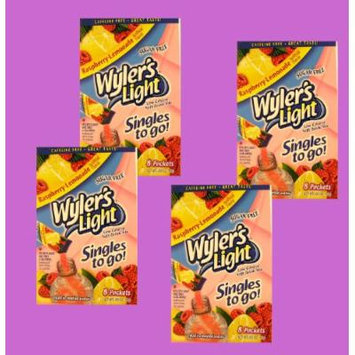 Wyler's Light raspberry-lemonade singles to go, sugar free, 8 packets per box (pack of 4 boxes)