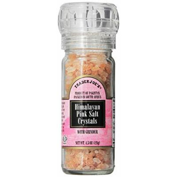 Trader Joe's Himalayan Pink Salt Crystals with Built in Grinder Natural and Pure Use in Any Dish You Would Use Regular Salt - 4.5oz