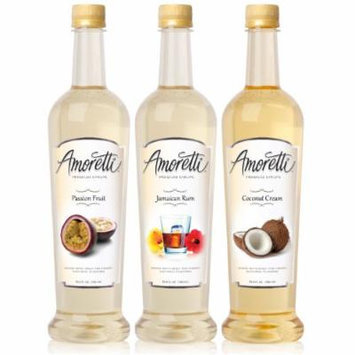 Amoretti Premium Tropical Syrups 750ml 3 Pack