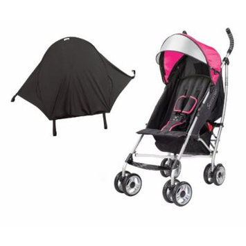 Summer Infant 3D Lite Convenience Stroller with Rayshade UV Sun Protector, Pink