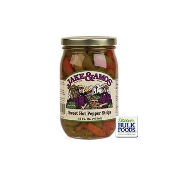Jake & Amos Sweet and Hot Pepper Relish, 16 Ounce - 3 Pack