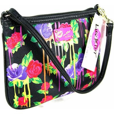 New Betsey Johnson Luv Wristlet Phone Purse Hand Bag Floral Roses Multicolor