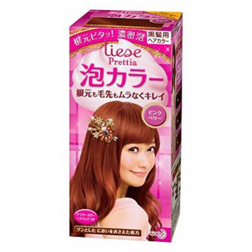 KAO Prettia Bubble Hair Color, Pink Berry, 0.5 Pound