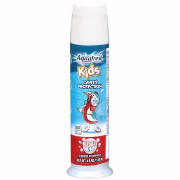 Aquafresh Kids Fluoride Toothpaste with Triple Protection, Bubblemint , 4.6 oz (130.4 g)