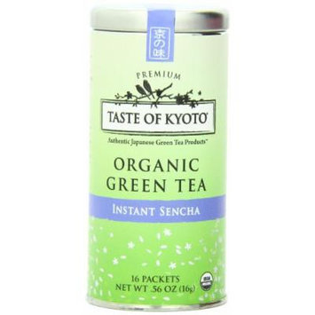 TASTE OF KYOTO Sencha Green Tea, Premium Instant, 16 Count