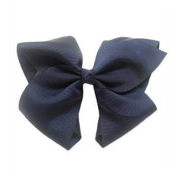 Navy Extra Large Bow Hair Clip