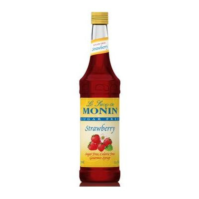 Monin Sugar Free Strawberry Syrup (1 Single 750 ml bottle)