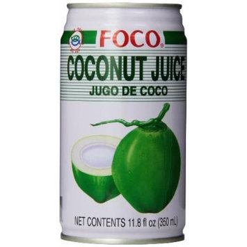 FOCO Coconut Juice with Pulp, 11.80 Ounce (Pack of 24)