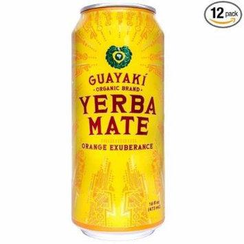 Guayaki Yerba Mate, Orange Exuberance, 16 Oz (Pack of 12)