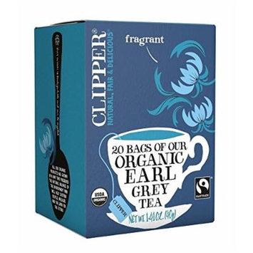 CLIPPER TEA EARL GREY FRTRD ORG, 20 BG