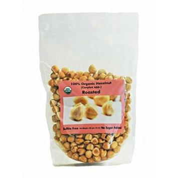 Indus Organic Roasted Hazelnut, 1 Lbx3 , Sulfite Free, Salt Free, Freshly Packed, Premium Grade