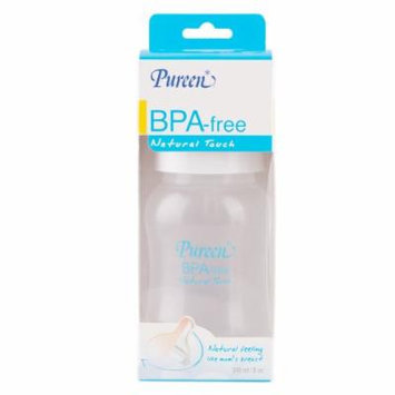 Pureen BPA-Free Natural Touch baby feeding Bottle 4 oz / 8 oz (8 oz / 240 ml)