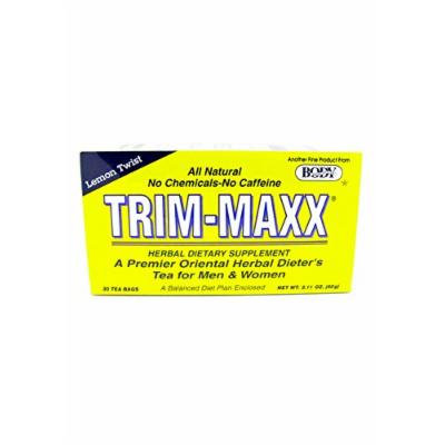 Trim-Maxx Lemon Twist Herbal Dietary Supplement All Natural No Chemicals No Caffeine 30 Tea Bags