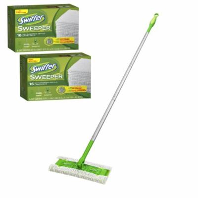 Swiffer Sweeper Sweeping & Mopping Jumbo Starter Kit, Includes 1 Sweeper, 34 Dry Pad Refills, 1 Wet Pad Refill