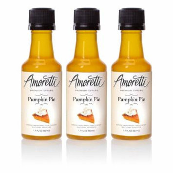 Amoretti Premium Pumpkin Pie Syrups 50ml 3 Pack