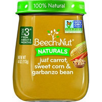 Beech-Nut Stage 3 Baby Food, Carrot/Sweet Corn/Garbanzo Bean, 4 Ounce (Pack of 10)