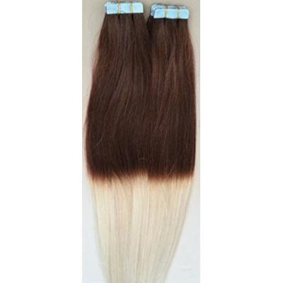 """18"""" OMBRE 100grs,40pcs, 100% Human Tape In Hair Extensions #T4/60"""