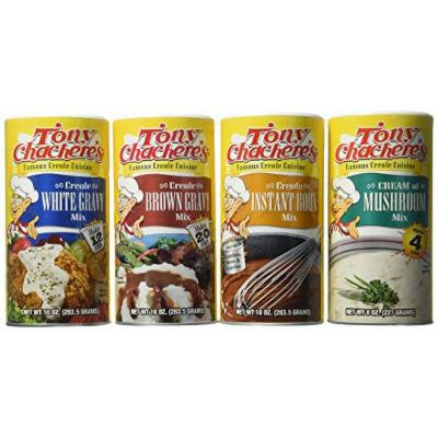 Tony Chachere Instant Gravy Mix, Creole Roux and Variety Pack, 4 Count