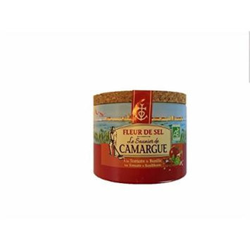 Le Saunier De Camargue Fleur De Sel Sea Salt with Tomato and Basil, 4.4 Ounce Canisters
