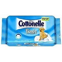 Cottonelle Flushable Moist Wipes, Fresh Care, Pop-up Refill, 42 Count (Pack of 4) 168 Total