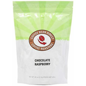 Coffee Bean Direct Chocolate Raspberry Flavored, Whole Bean Coffee, 16-Ounce Bags (Pack of 3)